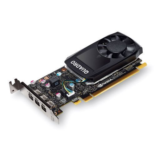 PNY Quadro P400 Professional Graphics Card, 2GB DDR5, 3 miniDP 1.4 (3 x DVI adapters), Low Profile (Bracket Included)