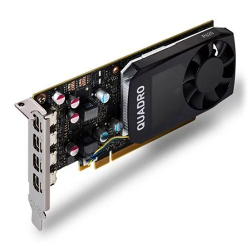 PNY Quadro P620 Professional Graphics Card, 2GB DDR5, 4 miniDP 1.4 (4 x DVI adapters), Low Profile (Bracket Included)