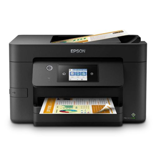 Epson WF-3820DWF Workforce Pro Wireless/USB All-in-One Inkjet Printer, Print/Scan/Copy/Fax, 4800 x 2400 DPI, 35 ppm