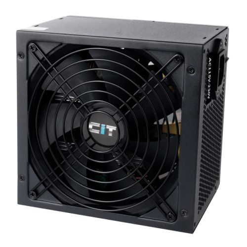 CIT 500W ATV Pro PSU, ATX 12V, Active PFC, 2 x 6+2 pin PCIe, 140mm Fan, Fully Wired, 80+ Bronze