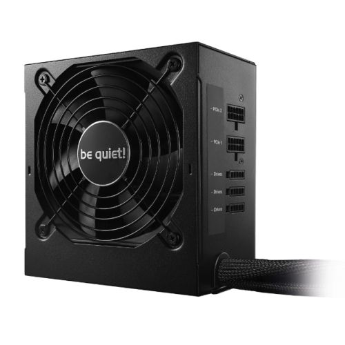 Be Quiet! 600W System Power 9 PSU, Semi-Modular, Sleeve Bearing, 80+ Bronze, Dual 12V, Cont. Power