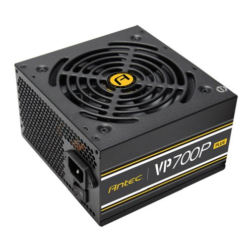 Antec 700W VP700P PLUS PSU, Fully Wired, ATX V2.4, 12cm Silent Fan, 80+ White, Continuous Power