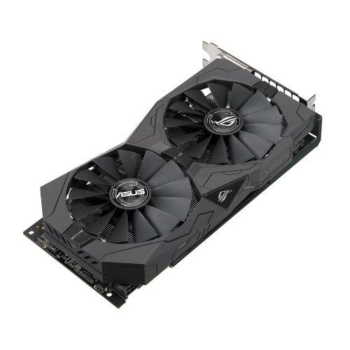 Asus Radeon ROG STRIX RX570 OC, 4GB GDDR5, PCIe3, 2 DVI, HDMI, DP, 1310MHz Clock, RGB Lighting, Crossfire, Overclocked