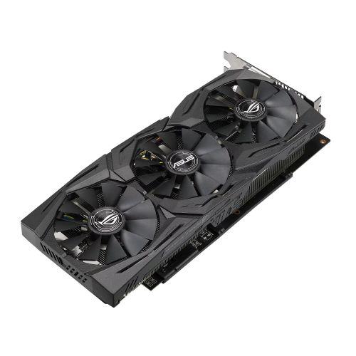 Asus Radeon ROG STRIX RX580 TOP, 8GB DDR5, DVI, 2 HDMI, 2 DP, 1431 MHz Clock, RGB Lighting