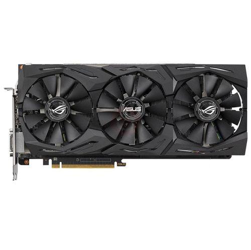 Asus Radeon ROG STRIX RX VEGA56 OC, 8GB HBM2, DVI, 2 HDMI, 2 DP, 1573MHz Clock, RGB Lighting