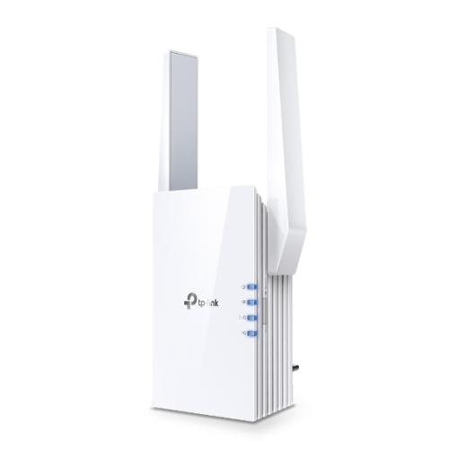 TP-LINK (RE605X) AX1800 (1201+574) Dual Band Wall-Plug Wi-Fi Range Extender, Intelligent Signal Light, AP Mode