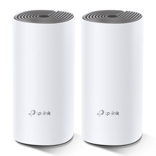 TP-LINK (DECO E4) Whole-Home Mesh Wi-Fi System, 2 Pack, Dual Band AC1200, 2 x LAN on each Unit
