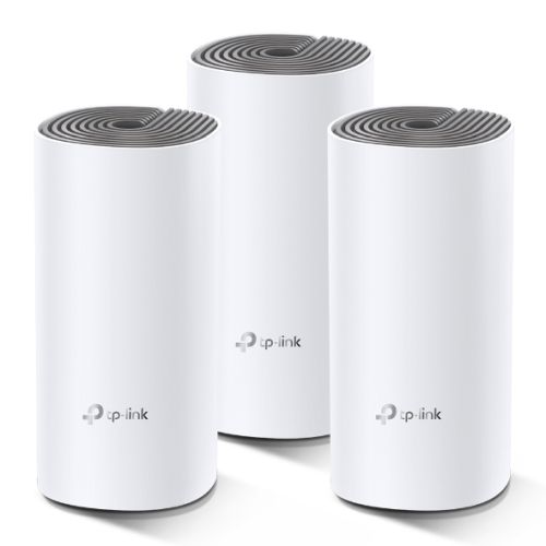 TP-LINK (DECO E4) Whole-Home Mesh Wi-Fi System, 3 Pack, Dual Band AC1200, 2 x LAN on each Unit