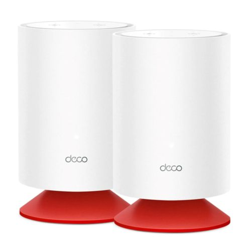 TP-LINK (DECO Voice X20) Whole Home Mesh Wi-Fi 6 System with Alexa Built-In, 2 Pack, Dual Band AX1800, 2x GB WAN/LAN, OFDMA & MU-MIMO