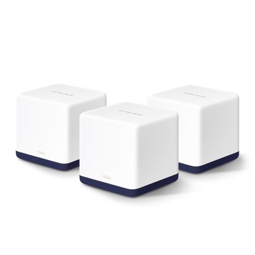 Mercusys (HALO H50G) Whole-Home Mesh Wi-Fi System, 3 Pack, Dual Band AC1900, 3 x LAN on each Unit, AP Mode