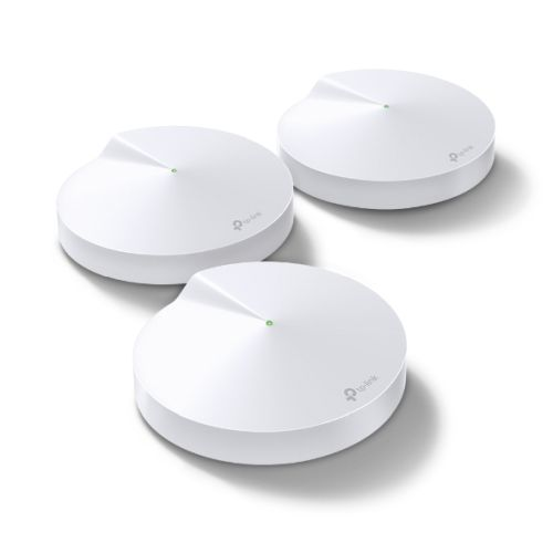 TP-LINK (DECO M9 PLUS) Smart Home Mesh Wi-Fi System, 3 Pack, Tri Band AC2200, MU-MIMO, Built-in Smart Hub