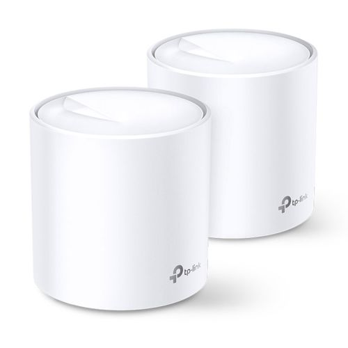 TP-LINK (DECO X60) AX3000 Wireless Whole Home Mesh Wi-Fi System, 2 Pack, OFDMA & MU-MIMO, WPA3 Encryption & TP-Link HomeCare