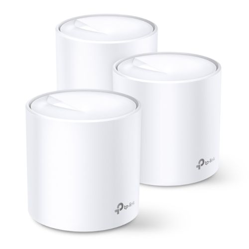 TP-LINK (DECO X60) AX3000 Wireless Whole Home Mesh Wi-Fi System, 3 Pack, OFDMA & MU-MIMO, WPA3 Encryption & TP-Link HomeCare