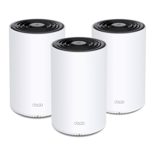 TP-LINK (DECO X68) Whole Home Mesh Wi-Fi 6 System, 3 Pack, Tri Band AX3600, OFDMA & MU-MIMO, AI-Driven Mesh, TP-Link HomeShield