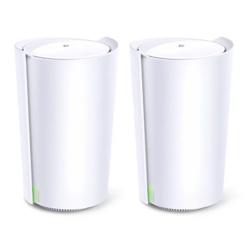 TP-LINK (DECO X90) AX6600 Wireless Whole Home Mesh Wi-Fi System, 2 Pack, AI Mesh, Tri-Band, 2.5G LAN, Connect up to 200 devices