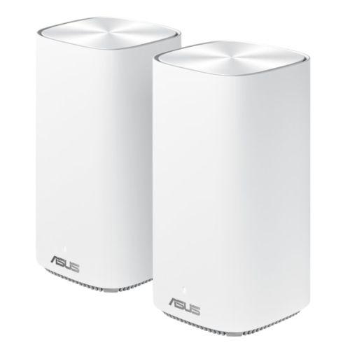 Asus (ZenWiFi AC Mini (CD6)) AC1500 Wireless Dual Band Mesh Mini System, 2 Pack (Router & Node), AiMesh, AiProtection