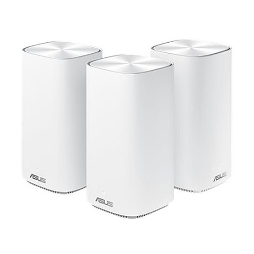 Asus (ZenWiFi AC Mini (CD6)) AC1500 Wireless Dual Band Mesh Mini System, 3 Pack (Router & 2 Nodes), AiMesh, AiProtection