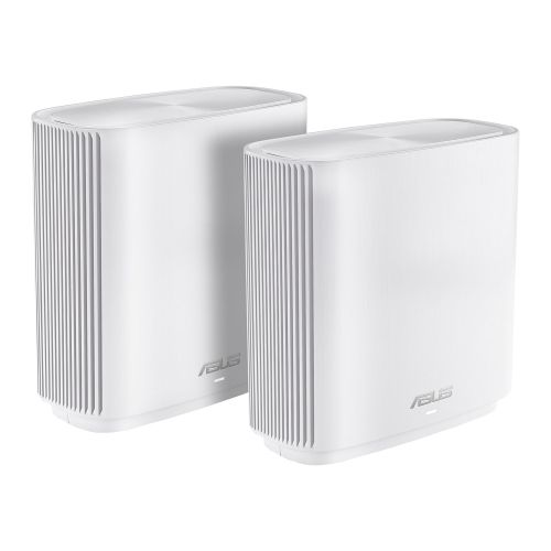 Asus (ZenWiFi AC CT8) AC3000 (400+867+1733) Wireless Tri-Band Cable Routers, 2 Pack, USB 3.0, AiMesh Tech, White