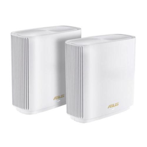 Asus (ZenWiFi AX XT8) AX6600 Wireless Tri-Band Cable Routers, 2 Pack, USB 3.1 Gen1, 2.5G WAN, AiMesh Tech, White