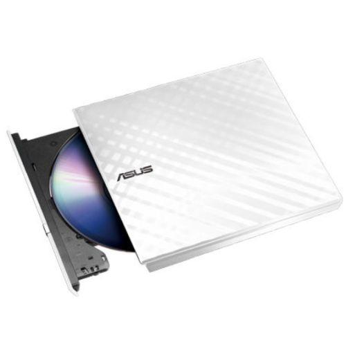 Asus (SDRW-08D2S-U LITE) External Slimline DVD Re-Writer, USB, 8x, White, Cyberlink Power2Go  8