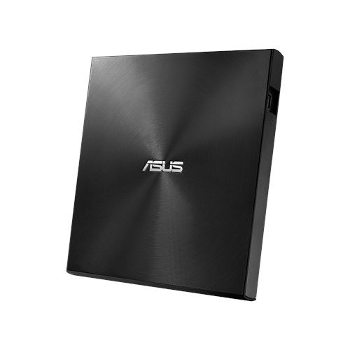 Asus (ZenDrive U9M) External Slimline DVD Re-Writer, USB-A / USB-C, 8x, Black, M-Disc Support, Cyberlink Power2Go 8, Black