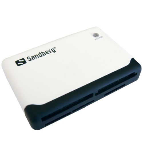Sandberg (133-46) External Multi Card Reader, USB Powered, Black & White, 5 Year Warranty