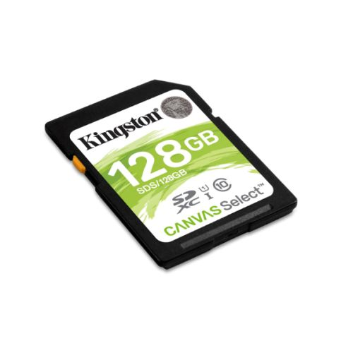 Kingston 128GB Canvas Select SDXC Card, Class 10