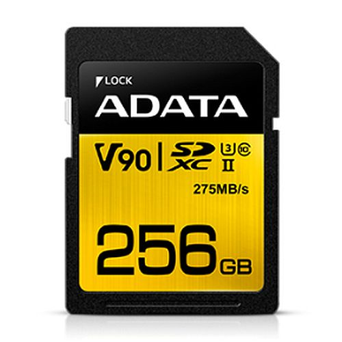 ADATA Premier ONE 256GB SDXC Card, UHS-II Class 10 (U3), V90 Video Speed (8K), R/W 290/260 MB/s