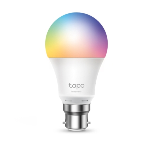 TP-LINK (Tapo L530B) Wi-Fi LED Smart Multicolour Light Bulb, Dimmable, App/Voice Control, Bayonet Fitting
