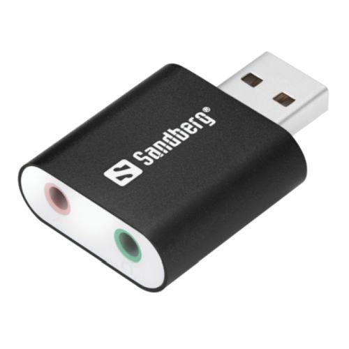 Sandberg External Soundcard, USB, 5 Year Warranty