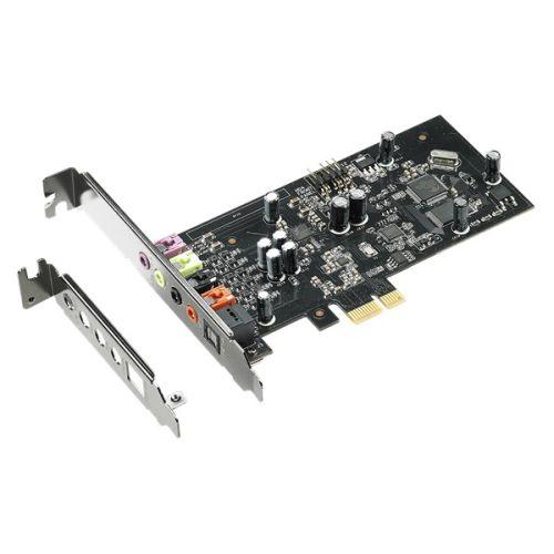 Asus Xonar SE 5.1 Gaming Soundcard, PCIe, Hi-Res Audio, 300ohm, 116dB SNR, Headphone Amp