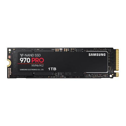 Samsung 1TB 970 PRO M.2 NVMe SSD, M.2 2280, PCIe, V-NAND, R/W 3500/2700 MB/s