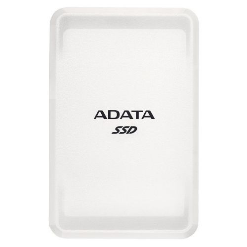 ADATA SC685 500GB External SSD, USB-C (USB-A Adapter), 3D NAND, Windows/Mac/Android Compatible, White
