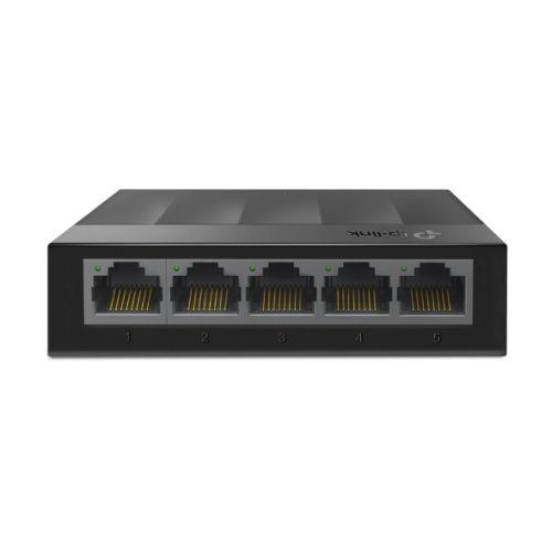 TP-LINK (LS1005G) 5-Port Gigabit Unmanaged Desktop LiteWave Switch, Green Technology, Plastic Case