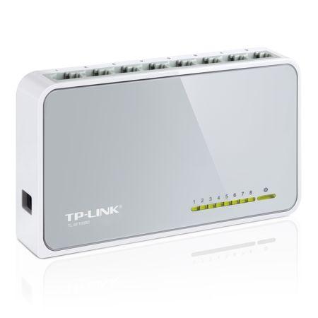 TP-LINK (TL-SF1008D V12) 8-Port 10/100 Unmanaged  Desktop Switch, Plastic Case
