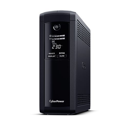 CyberPower Value Pro 1200VA Line Interactive Tower UPS, 720W, LCD Display, 8x IEC, AVR Energy Saving, 1Gbps Ethernet