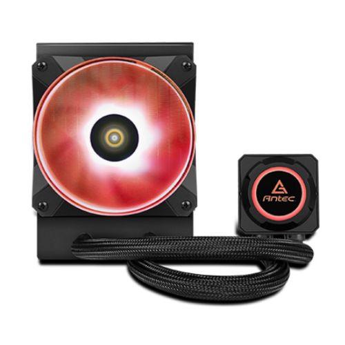 Antec Kuhler H2O K120 RGB Liquid CPU Cooler, 12cm RGB PWM Fans, Low Profile