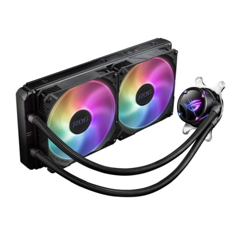Asus ROG STRIX LC II 280mm ARGB Liquid CPU Cooler, 7th Gen Asetek Pump, 2 x 14cm ROG ARGB PWM Fans
