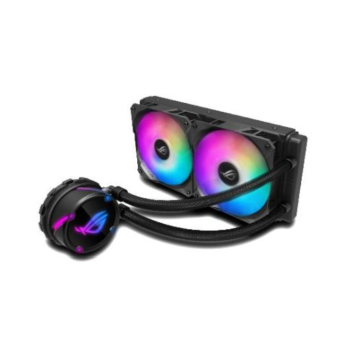Asus ROG STRIX LC240 RGB 240mm Liquid CPU Cooler, Addressable RGB, 2 x PWM Fan, Black