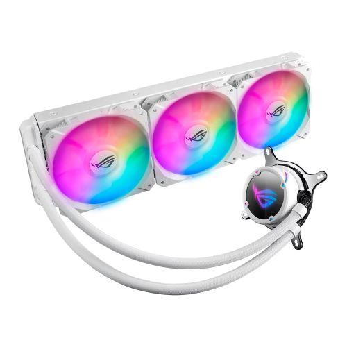 Asus ROG STRIX LC360 RGB 360mm Liquid CPU Cooler, 3 x Addressable RGB PWM Fans, White