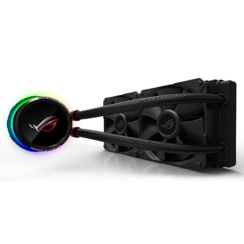 Asus ROG Ryuo 240mm Liquid CPU Cooler, 2 x 120mm PWM Fan, Full Colour OLED Display, RGB