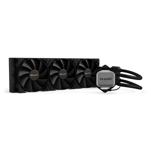 Be Quiet! Pure Loop 360mm Liquid CPU Cooler, 3 x 12cm Pure Wings 2 PWM Fans, White LED Lighting