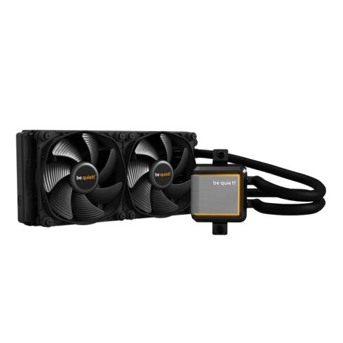 Be Quiet! Silent Loop 2 240mm ARGB Liquid CPU Cooler, Dampened & Adjustable Pump, 3 x 12cm Silent Wings 3 PWM Fans