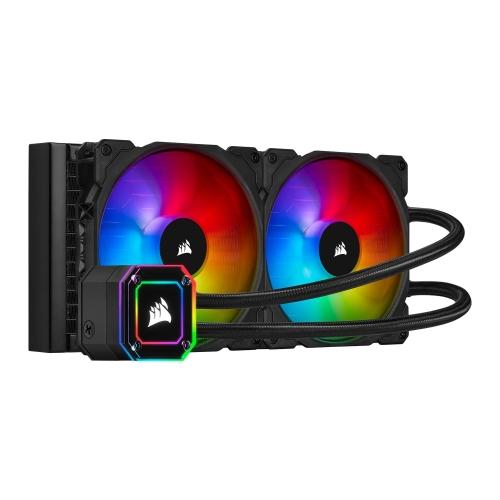 Corsair iCUE H115i ELITE CAPELLIX 280mm RGB Liquid CPU Cooler, 2 x 12cm ML140 RGB PWM Fans