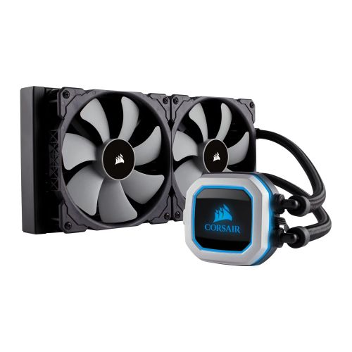 Corsair Hydro H115i PRO 280mm RGB Liquid CPU Cooler, 2 x 14cm PWM Fans, RGB LED Pump Head
