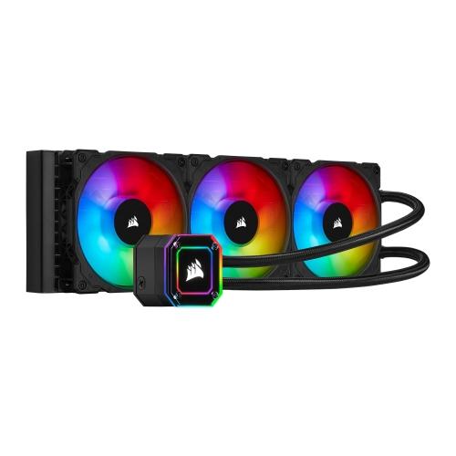 Corsair iCUE H150i ELITE CAPELLIX 360mm RGB Liquid CPU Cooler, 3 x 12cm ML120 RGB PWM Fans, Black