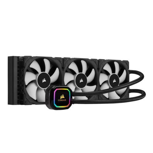 Corsair iCUE H150i RGB PRO XT 360mm Liquid CPU Cooler, 3 x 12cm PWM Fans, 16 RGB LEDs