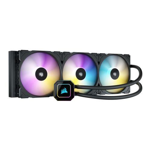 Corsair iCUE H170i ELITE CAPELLIX 420mm RGB Liquid CPU Cooler, 3 x 14cm ML140 RGB PWM Fans, Black