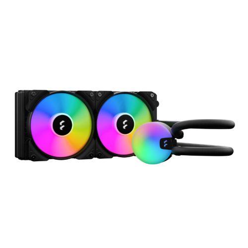 Fractal Design Lumen S24 240mm ARGB Liquid CPU Cooler, ARGB Pump, 2x Aspect 12 RGB PWM Fans