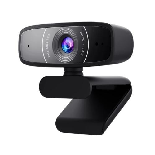Asus Webcam C3 USB FHD Webcam with Beamforming Mic, 1080p, 30fps, 90� Tilt, 360� Rotation